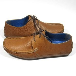 TED BAKER Mens Shoes Lace-up Driving Shoe Tan